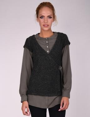 Блуза-риза Мохер