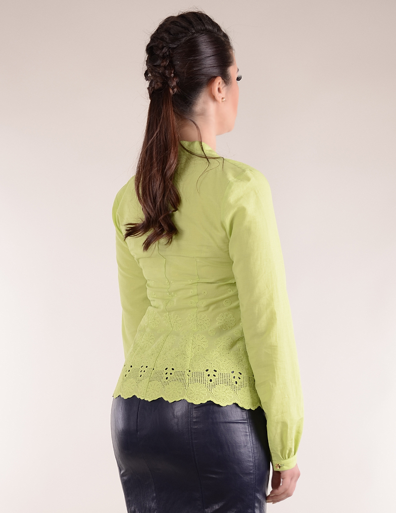 Риза Джоан бордюр зелен