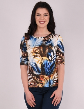 Блуза Палми- Кобалт